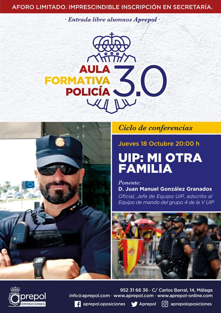 Aula Formativa Policía 18 octubre. Juan Manuel González Granados.