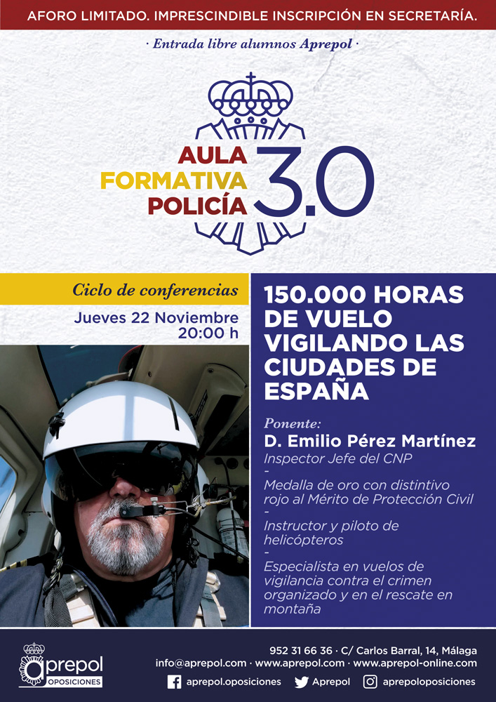 Aula Formativa Policía 22 noviembre. Emilio Pérez Martínez.